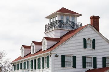 Coastal House with Dormers and Widows Walk