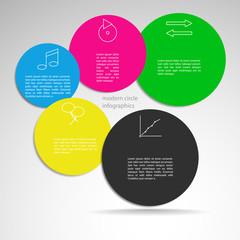 Flat infographics design template