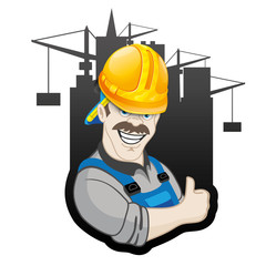 Vector sign. Builder.
