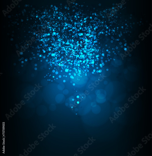 Abstract bokeh digital background. Vector illustration