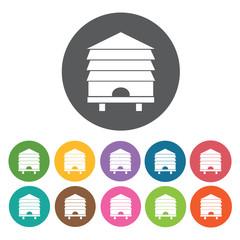 Honey storage icon. Honey relate icon set. Round colourful 12 bu