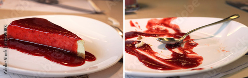 Cheesecake Before and After