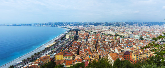 Nice, France. View of the city from a high point