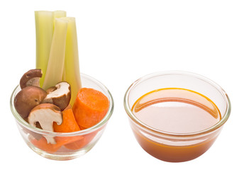 assorted vegetable and stock isolated