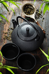 Image of traditional eastern teapot and teacups
