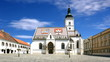 St. Mark's Church in Zagreb Croatia, with timelapse sky