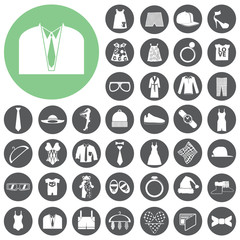 Fashion and clothes icons set. Vector Illustration eps10