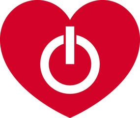 Simbolo cuore on-off
