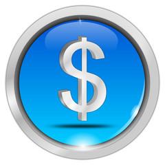 Button mit Dollar Symbol