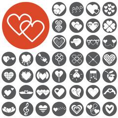 Heart Icon Set. Vector Illustration eps10