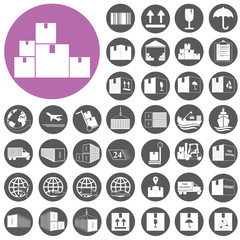 Shipping and Logistics Icons set. Vector Illustration eps10