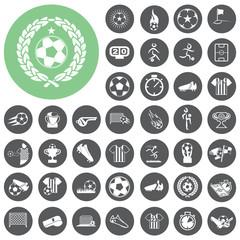 soccer icons set. Vector Illustration eps10