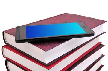Мобильной телефон и книги