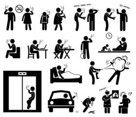 Smokers Smoking Cliparts Icons