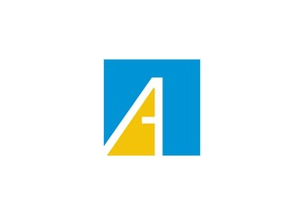 Letter A vector alphabet impossible shape logo