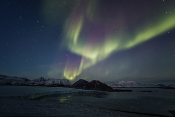 Natural phenomenon of Northern Lights (Aurora Borealis)