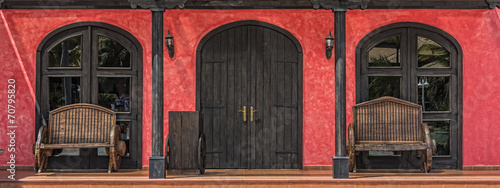 Colorful Mexican Doorway - 70795820