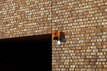 Warnleuchte an Hauswand © Matthias Buehner