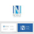 Corporate Logo N Letter company vector design. Logotype