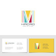 Corporate Logo M Letter company vector design. Logotype