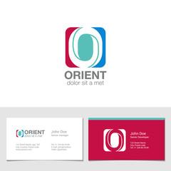 Corporate Logo O Letter company vector design. Logotype