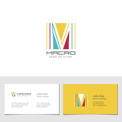 Corporate Logo M Letter company vector design. Logotype