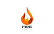 Fire Flame Logo design vector. Fireball logotype icon - 70796401