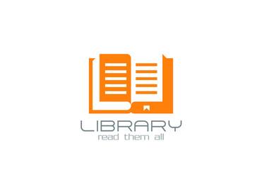 Open Book Logo design vector. Knowledge symbol