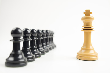 Black pawns in front of white king