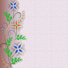 jewelry pattern border