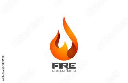 Fire Flame Logo design vector. Fireball logotype icon