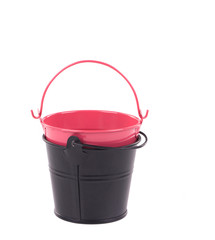 Red and black bucket.