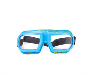 Blue protective glasses.