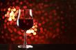 赤ワインとイルミネーション
