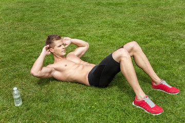 Outdoor abs excercise
