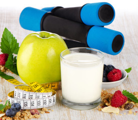 Healthy diet  food  on a wooden  background