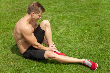 Leg injury during excercise