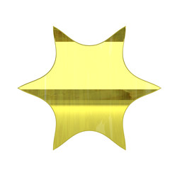 glossy gold vip zone icon - 3D render isolated on white