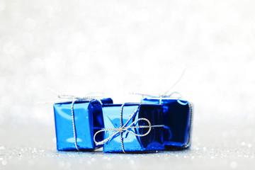 Blue holiday gifts