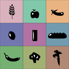colorful good food icons