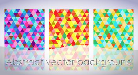 Абстрактный фон из разноцветных тругольников