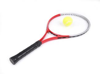tennis racket isolated