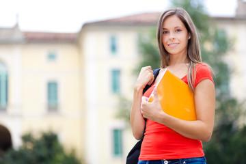 Smiling female student portrait