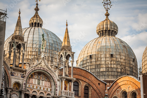 Foto op Canvas Milan The Basilica of San Marco in St. Marks square in Venice, Italy