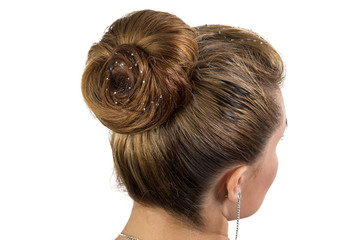 Photo of bride's hairstyle