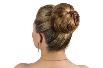 Image of bride's hairstyle