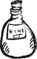 doodle bottle wine