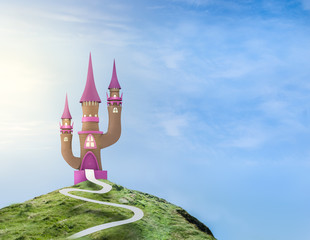 Ilustration of a fairytale castle