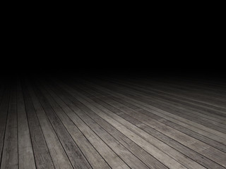 wood floor with dark background