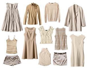 Beige clothes